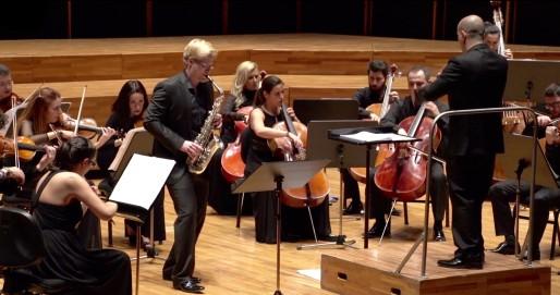 Glazunov Saxophone Concerto with Yaşar Chamber Orchestra (İzmir, Turkey) - Orhun Orhon (Conductor)